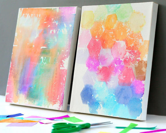 Tissue Painted Canvas