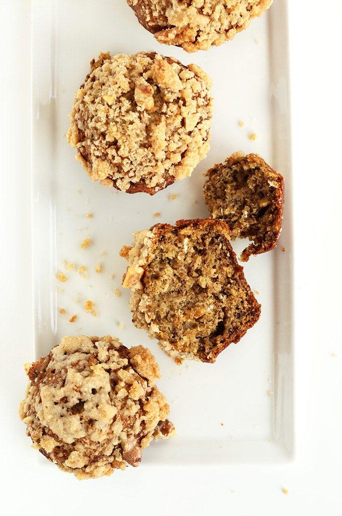 Recipe: Vegan Banana Crumb Muffins