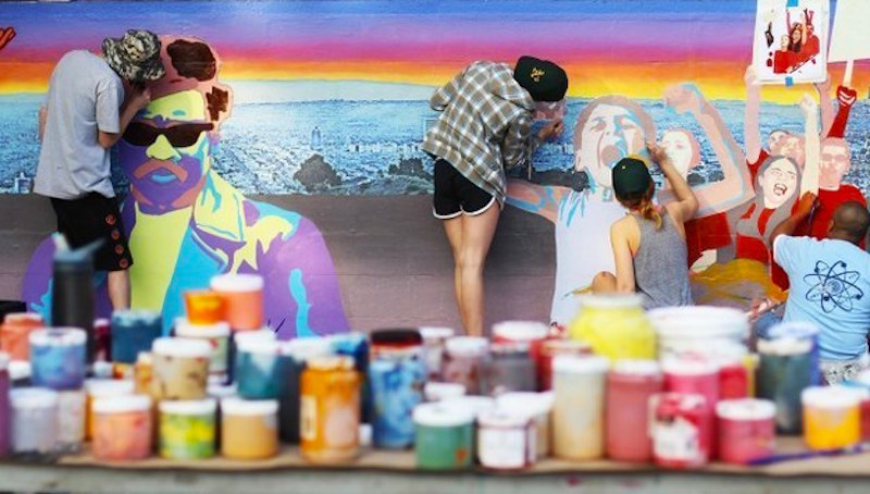 These College Students Painted A Mural For Class And The Results