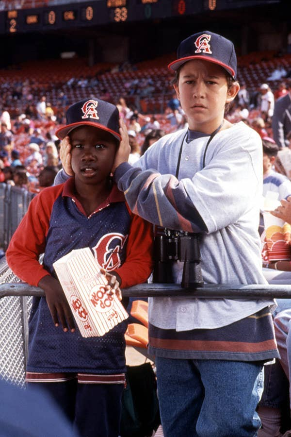 JGL was a kid who could see angels! Other big stars in this movie were Tony Danza, Christopher Lloyd and Danny Glover.