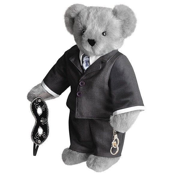 For $89.99, you get a teddy bear in a cheap and ill-fitting suit whose got kink gear that you can't even use because it is toy-sized. Also, Christian Grey would never go barefoot like some peasant.