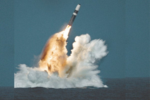 Ballistic missile submarines can carry up to 24 missiles, which have up to 8 nuclear warheads each. Each can be about 25 times more powerful than what was dropped on Hiroshima, so imagine the destructive power of a single Trident ballistic missile submarine.