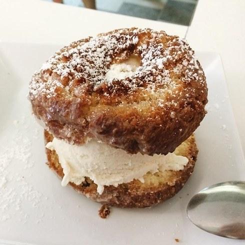 31. A Doughnut Ice Cream Sandwich from Peter Pan Donuts , Brooklyn