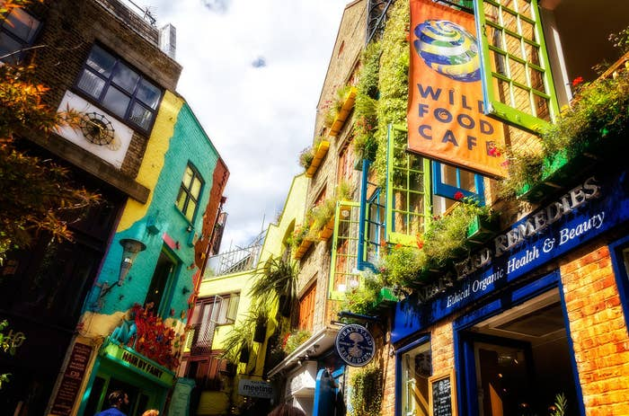 Popping into Neal's Yard in the heart of London is like entering a fairy tale world.