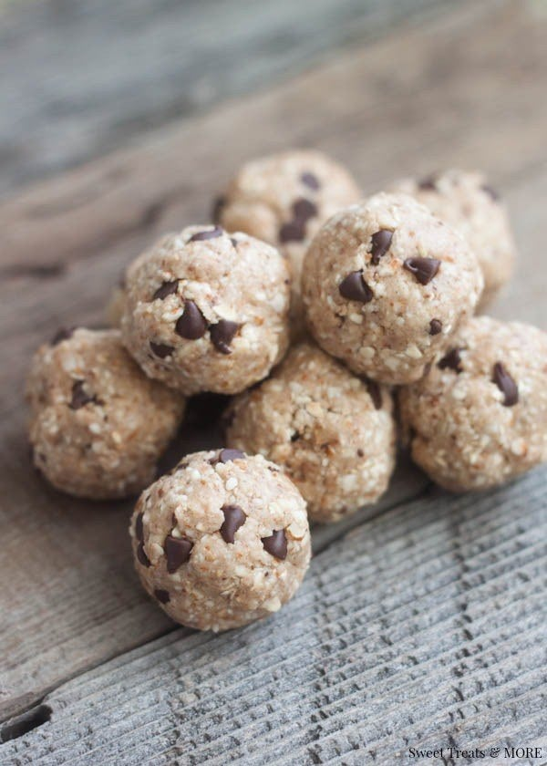 Just two of these cookie dough bites hold 10 grams of protein. Get the recipe here, via Sweat Treats and More.