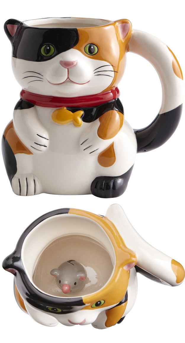 Cat with Mouse Inside Mug, $9.00