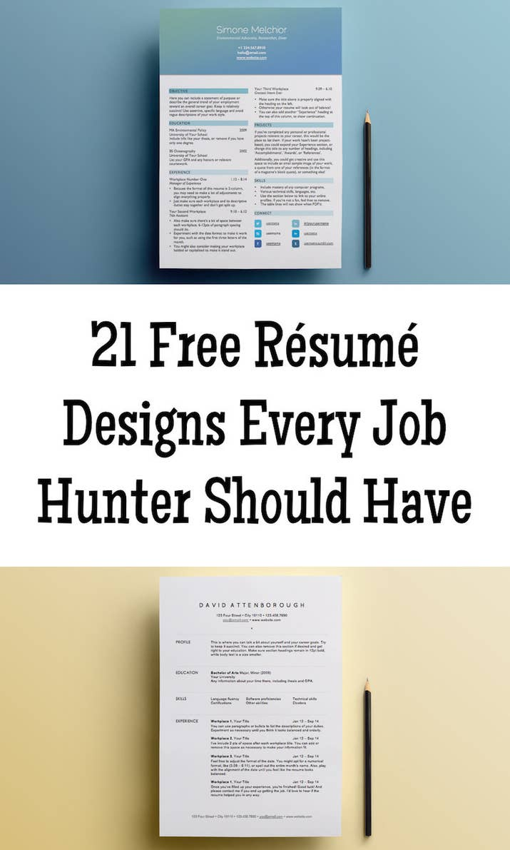 21 free rsum designs every job hunter needs share on facebook share altavistaventures Choice Image