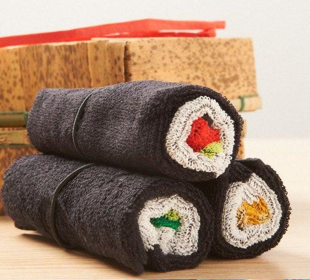 Tekkamaki, Kappamaki & Nattomaki Towel Set, $23.99