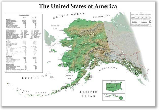 Maps That Explain The USA For Dummies - Biggest state in usa