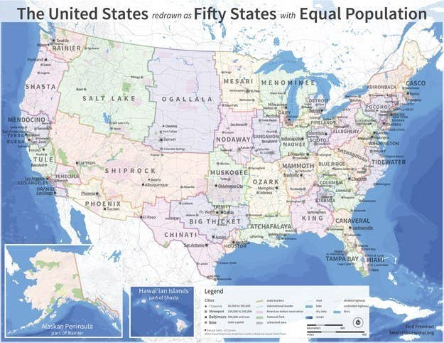 Maps That Explain The USA For Dummies - Us map scaled by population
