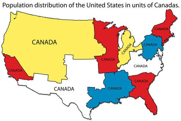 Easy Map Of Canada.49 Maps That Explain The Usa For Dummies