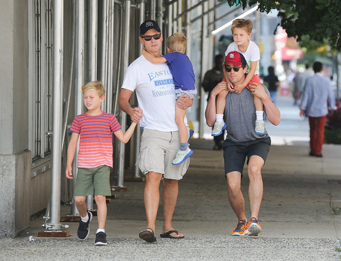 Bomer never denied his sexuality, but didn't address it publicly until February 2012. He's also very fortunate to be part of one of the cutest families out there. With his partner, publicist Simon Halls, they have three children together (via surrogacy), two of whom are twins.