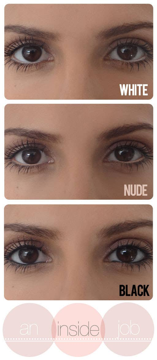 Grab a nude or white eyeliner to brighten and open up your eye area, which will make you look more awake.