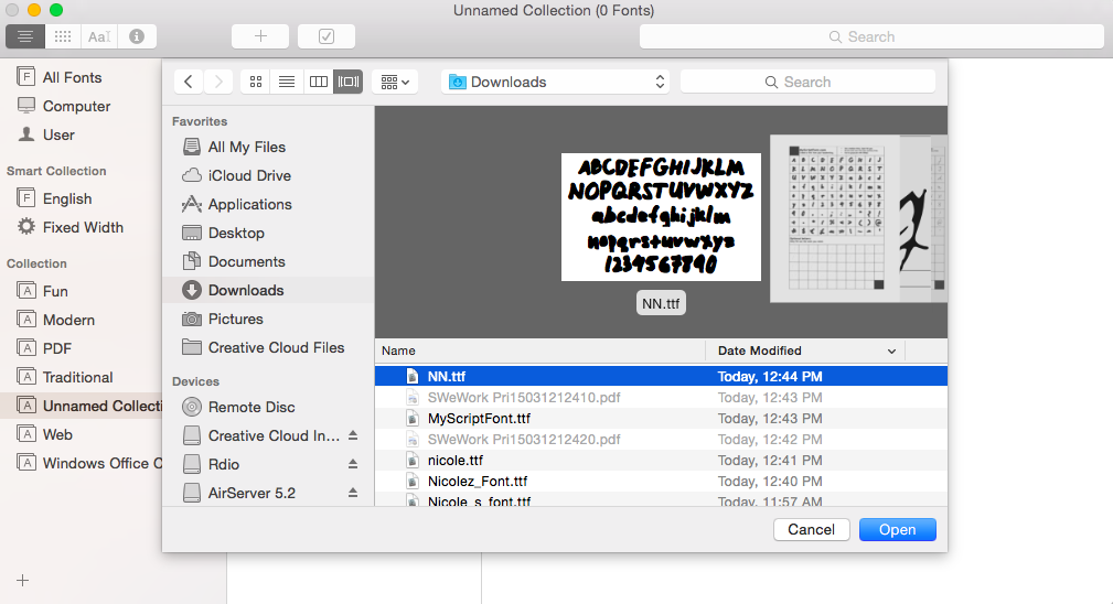 how to add font into word mac