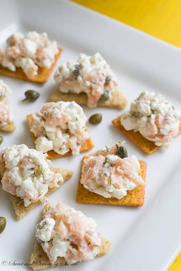 This recipe calls for smoked salmon, so you don't even have to cook anything.