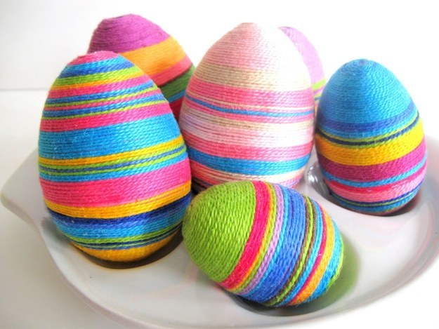 Embroidery Floss Covered Eggs