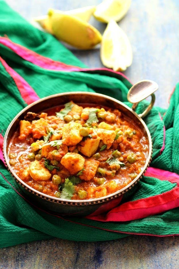 With green peas. Get the recipe.