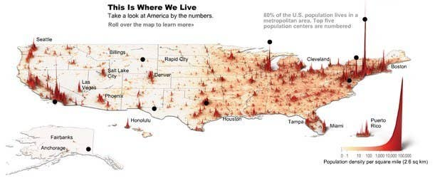 Maps That Explain The USA For Dummies - Google map us population density map by county
