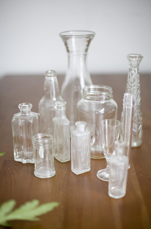 Give cheap thrifted or dollar store-glass trinkets a milky antique finish.
