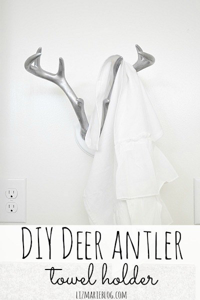 Mount fun Target antlers on the wall as a cooler alternative to a boring towel hook.
