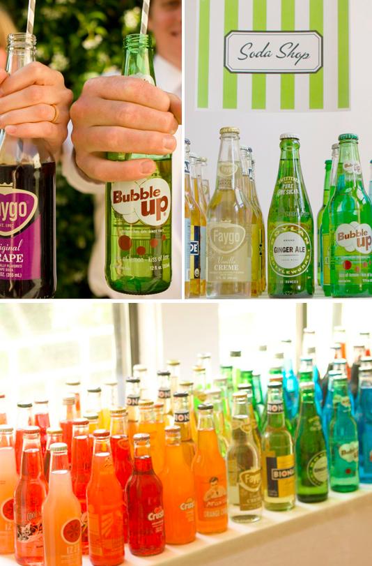 An old-fashioned soda bar:
