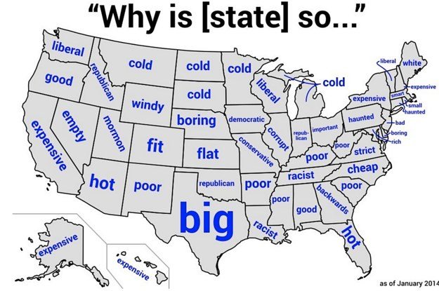 Maps That Explain The USA For Dummies - Map usa