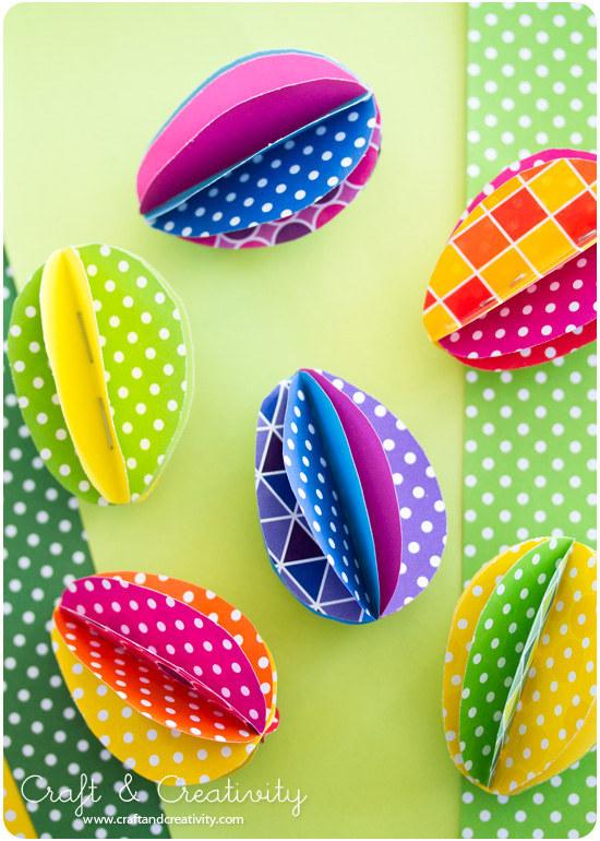 Paper Egg Garland