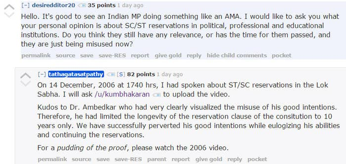 He even listed details on how users could follow up with him after the AMA.