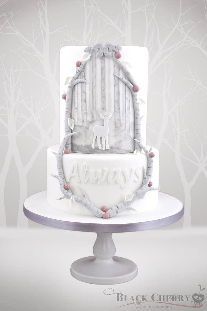 Or A Beautiful Patronus Inspired Cake