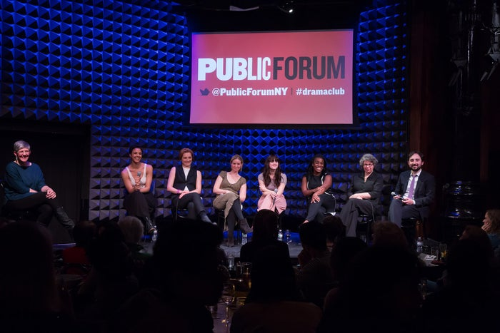 "The cast of ""Public Forum Drama Club: An Evening With Desdemona and Emilia,"" at Joe's Pub at The Public on March 16."