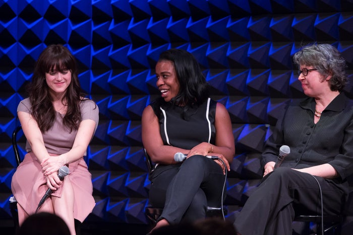 Heather Lind, Uzo Aduba, and Meg Wolitzer