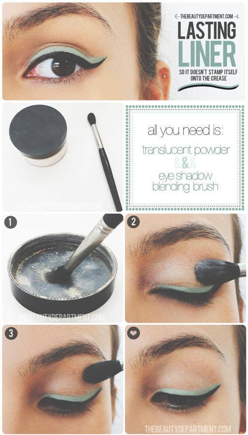 Once You Have Your Eyeliner Where Want It Prevent The Dreaded Crease Stamp With Help Of A Little Translucent Powder