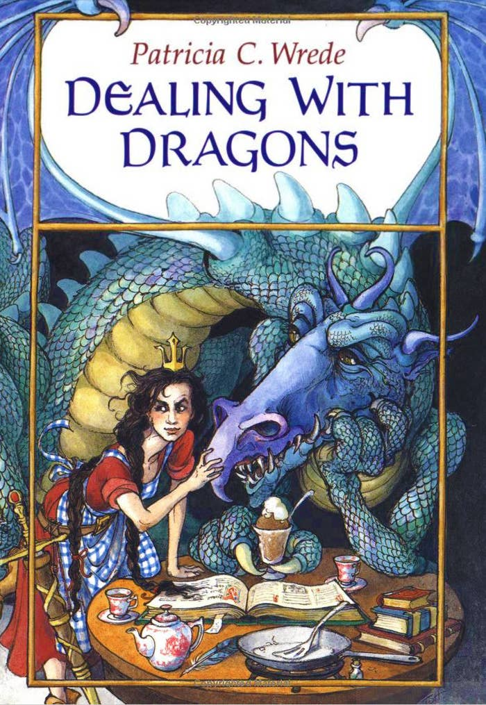 Dealing With Dragons's Princess Cimorene is everything her father doesn't want her to be: independent, stubborn, and a tomboy. When Cimorene gives up on the lackluster, proper life she is meant to live, she runs away and finds a dragon named Kazul.