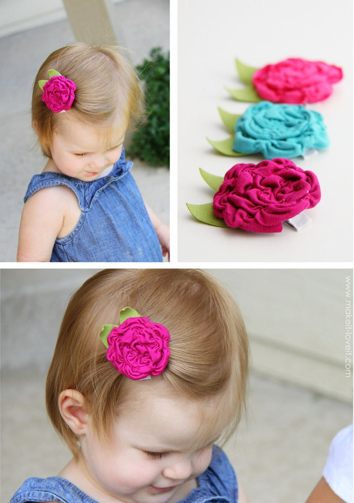 Looks even cuter on a headband! Find instructions here.