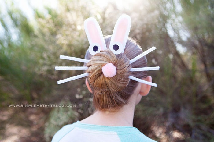 A few pipe cleaners and jazzed-up bobby pins will make any little girl hoppy.