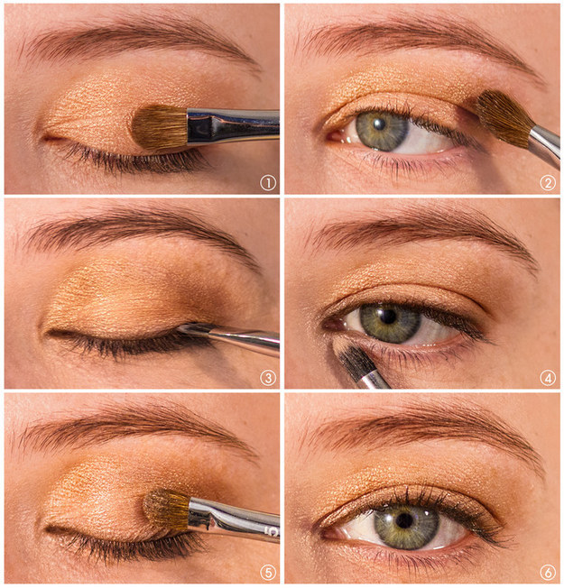 Not ready to fully commit to liner yet? Use your favorite shadow as a faux-liner so you can get used to a similar look.