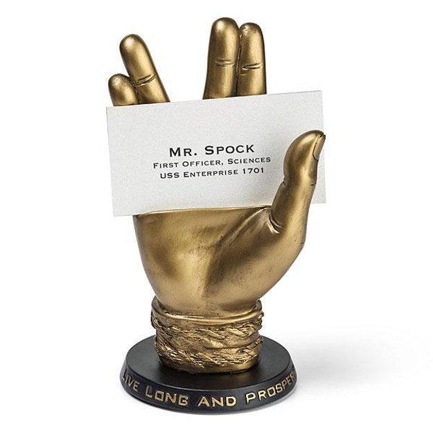Live Long and Prosper Spock Hand Business Card Holder, $35.00