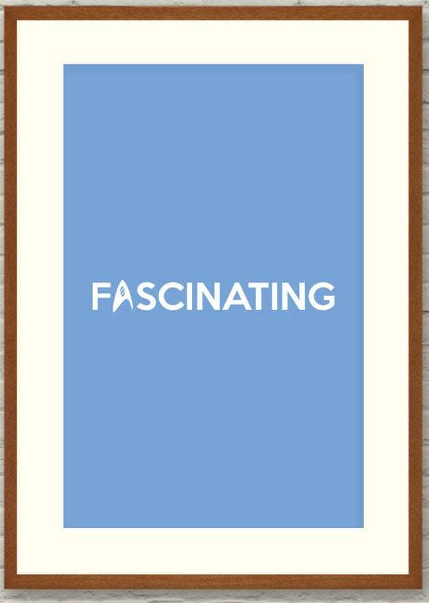 """Fascinating 12""""x18""""Poster, $10.00"""