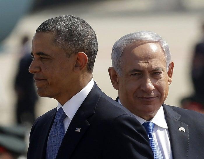 President Obama, left, with Israeli Prime Minister Benjamin Netanyahu, in Israel in 2013.