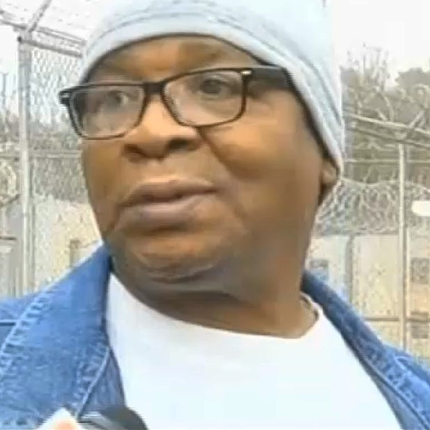 Glenn Ford, 64, talks to the media as he leaves a maximum security prison, Tuesday, March 11, 2014, in Angola, La., after having spent nearly 26 years on death row.