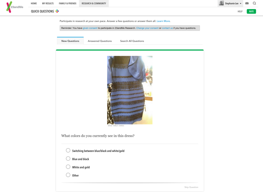 The Results Are In: DNA Cannot Explain #TheDress