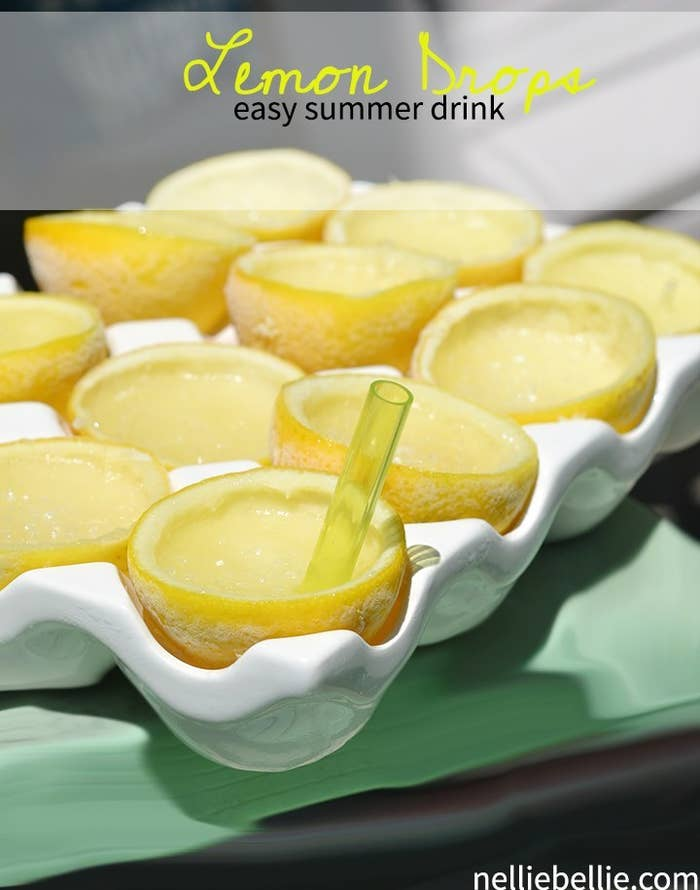 One of the easiest frozen drinks to make; and this version is even served inside lemons! Get the recipe here.