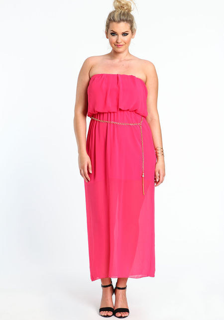 Plus Size Chiffon Maxi Dress, $27.16, Love Culture
