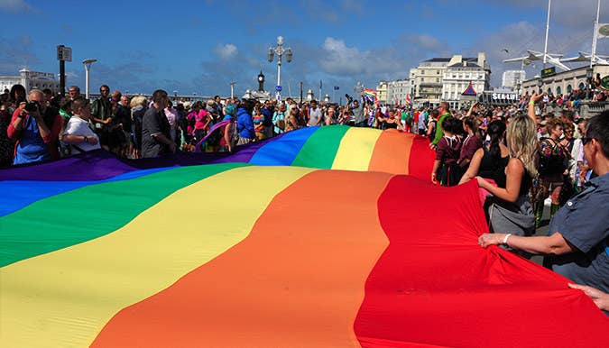 """Named by Lonely Planet as one of the """"best Pride's in the world"""", Brighton Pride weekend is hugely exciting, fun and definitely not to be missed when visiting the city. A positive explosion of flamboyance and fun-times, Brighton Pride pays homage to everything that is diverse and open-minded about the community, in a kaleidoscope of colour and style."""