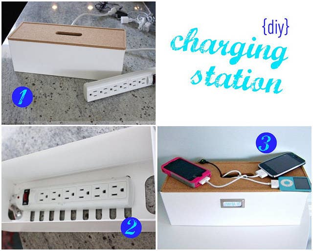 If you're living with several roommates, you have lots of phones to charge. Stop fighting over the one accessible outlet in the living room and make this cheap charging station instead.