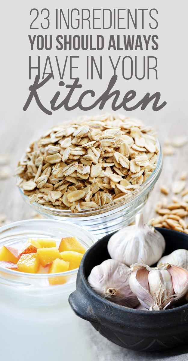 Kitchen With Food 23 ingredients you should always have in your kitchen