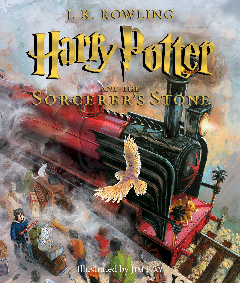 "Here's The Cover Of The Fully Illustrated Edition Of ""Harry Potter"""