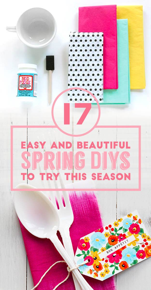 17 easy and colorful diys that are perfect for spring