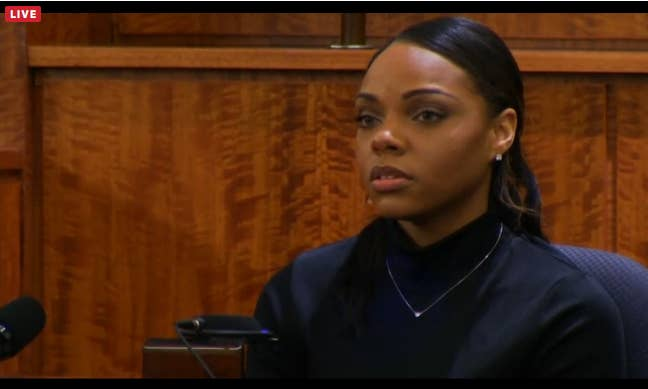 Shayanna testifies to the jury that there was a black handgun kept in the  junk drawer in their kitchen.