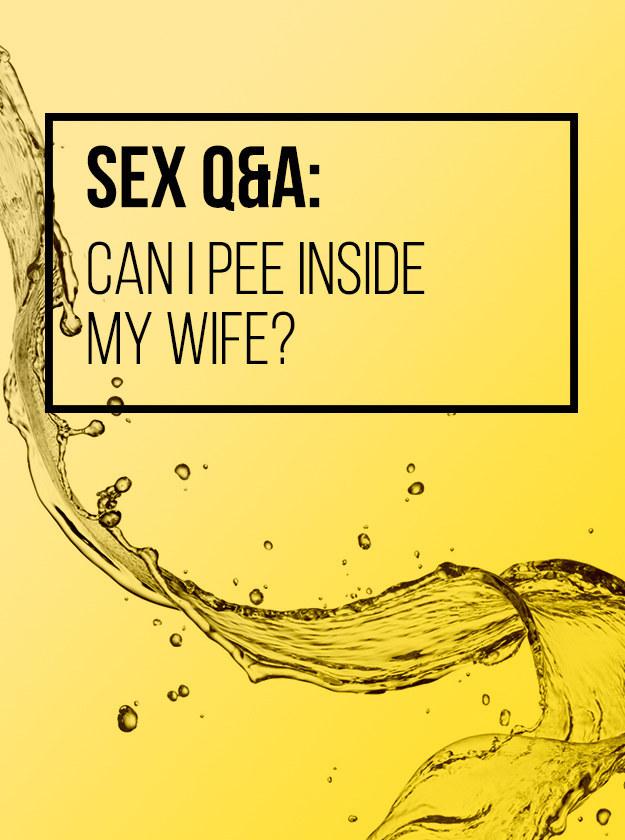 Urinated off golden shower sex